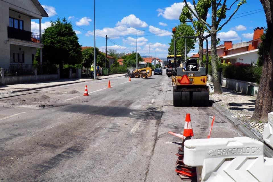 obras tondela pavimentação ruas