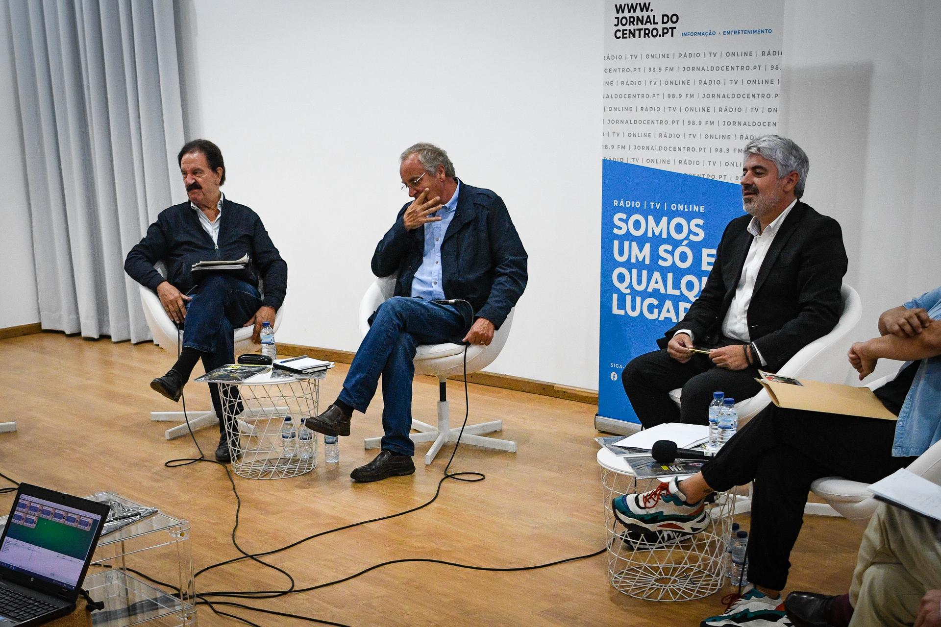 Fernando Ruas e João Azevedo com Francisco Almeida