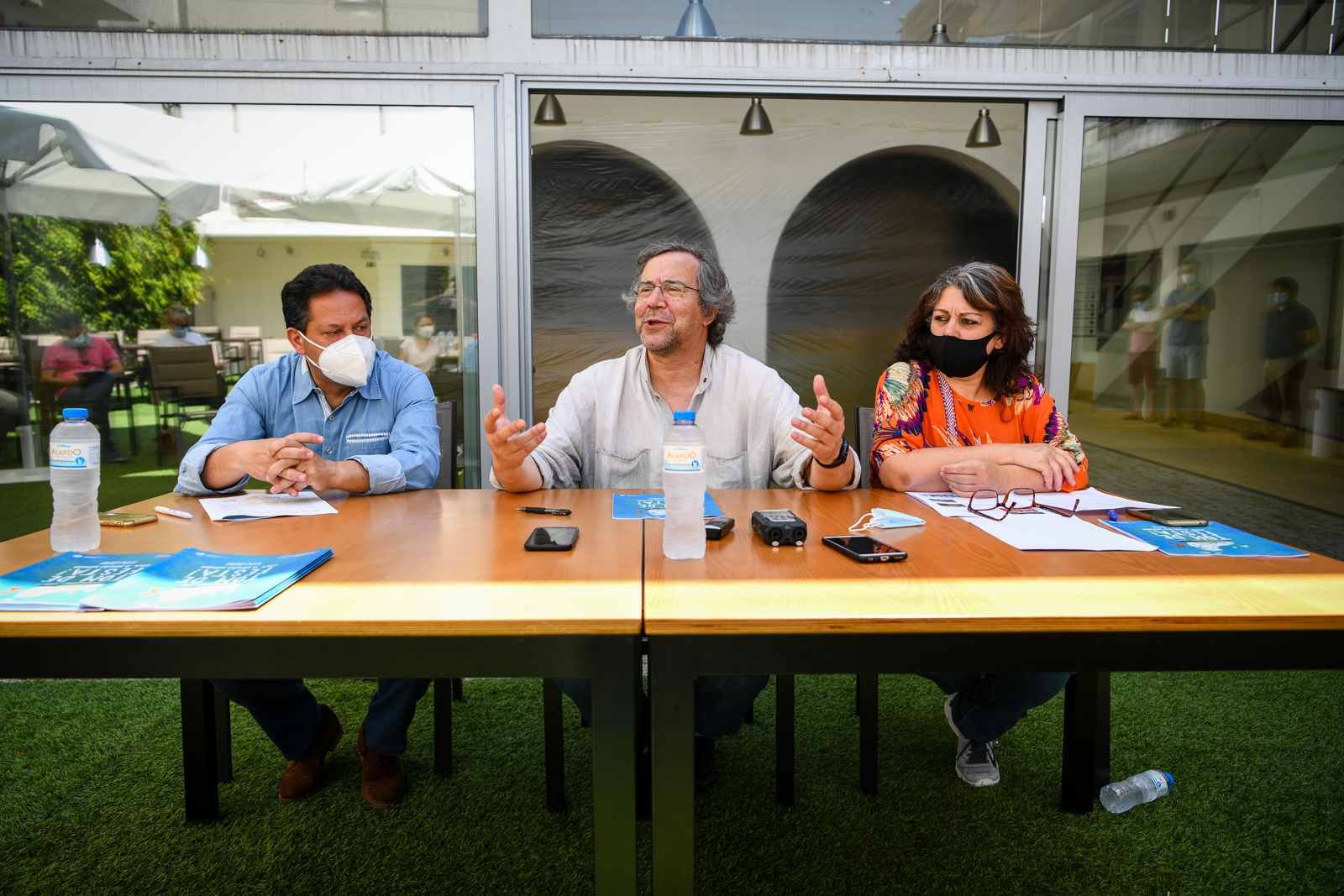 """Apresentação do evento cultural da Acerta """"Tom de Festa"""" em Tondela, com o António Jesus, José Rui Martins"""